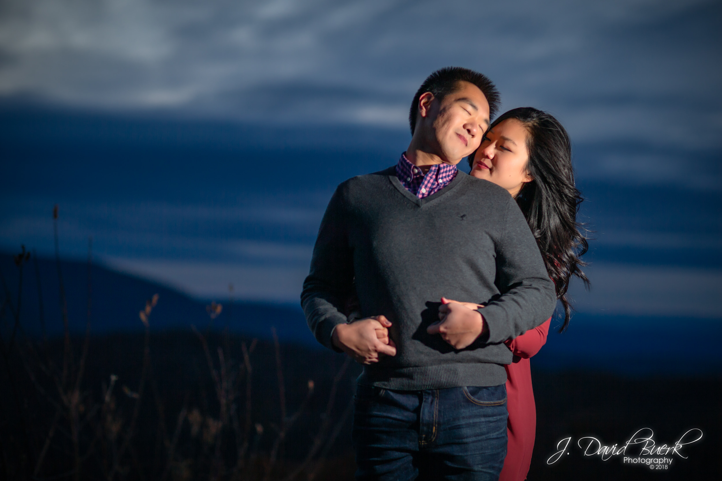 David and Tiffany during their engagement session in Shenandoah, Virginia.