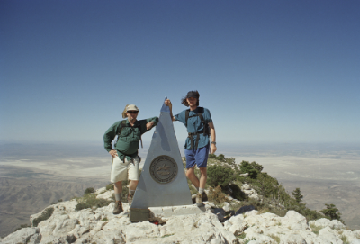 Todd and I at the summit of Guadalupe Peak.