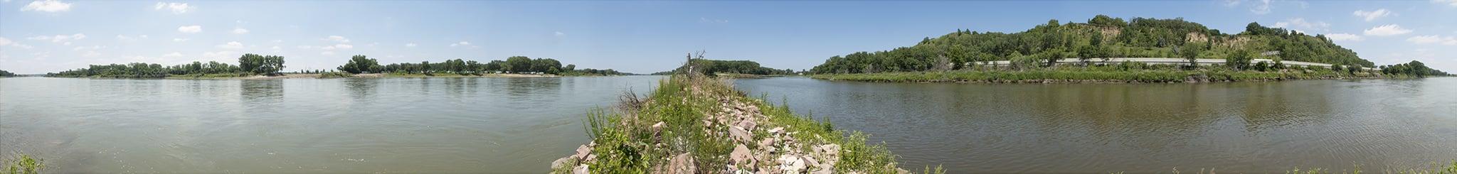 Tri-point of Iowa, Nebraska, and South Dakota.