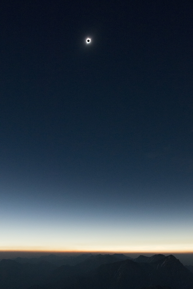 The eclipse from the summit of Mount Borah