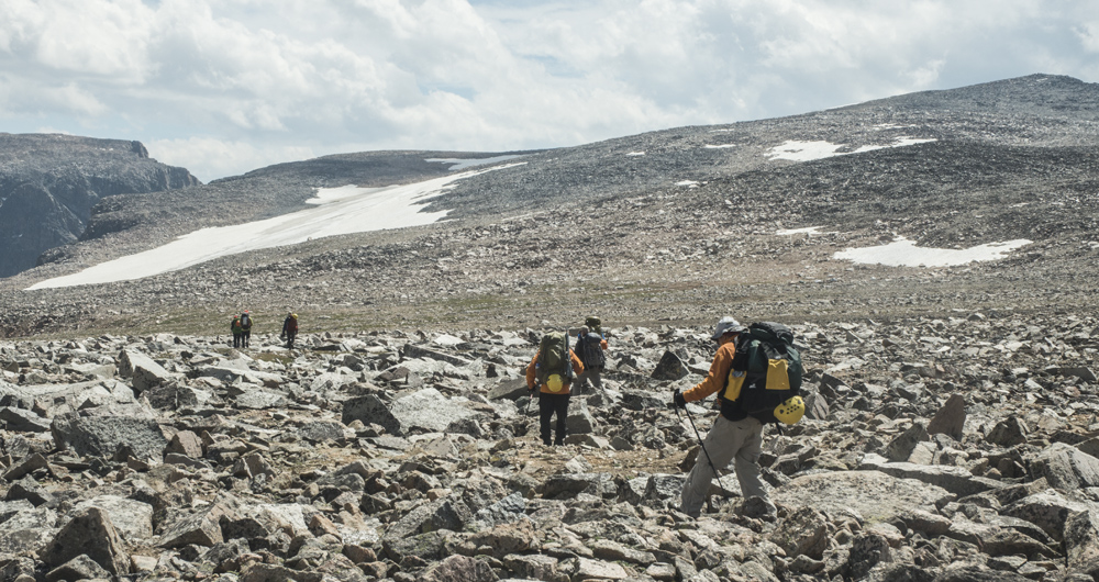 Hiking across Froze-to-Death Plateau