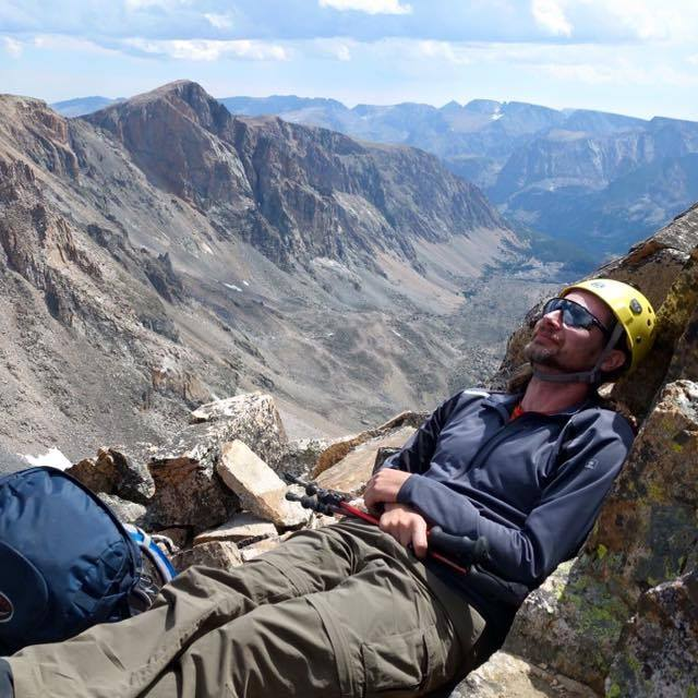 Taking a break before the final climb to the summit. (photo by Roger)