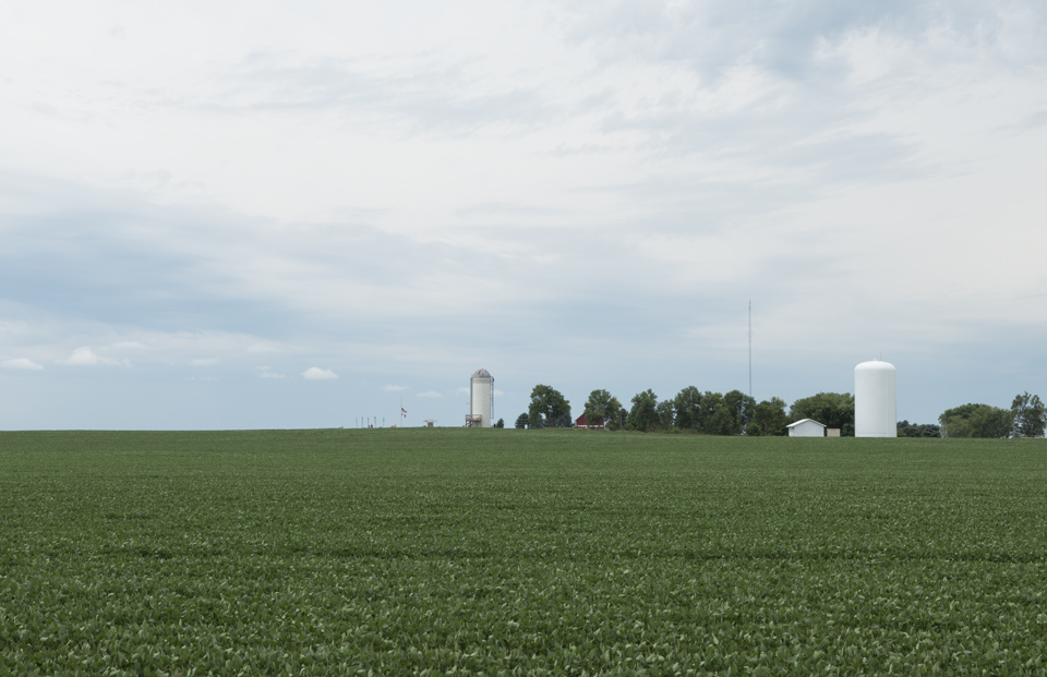 Hawkeye Point, the highpoint of Iowa. Just to the left of the silo in case it wasn't obvious.