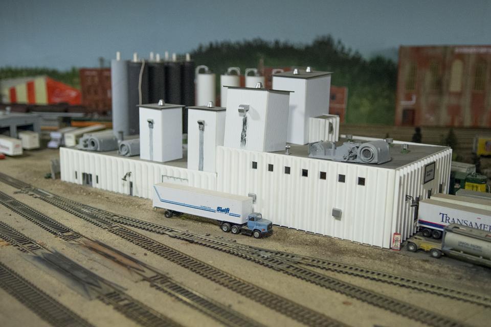 Model train exhibit in Sibley