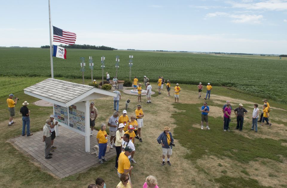 Convention attendees at Hawkeye Point