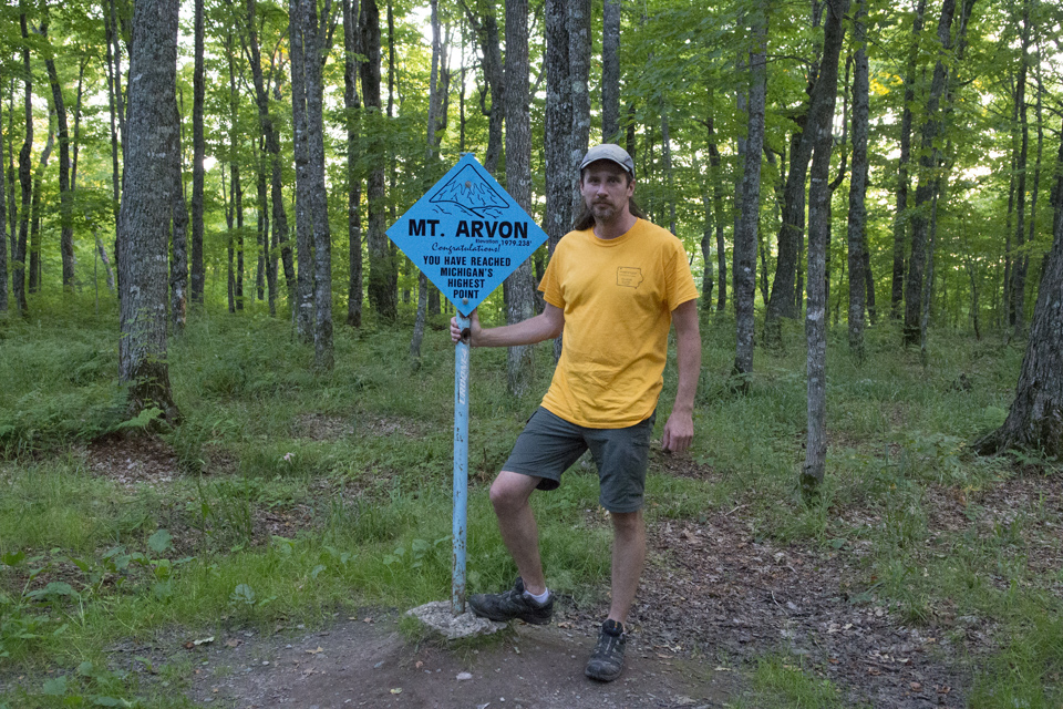 At Mount Arvon, highpoint of Michigan
