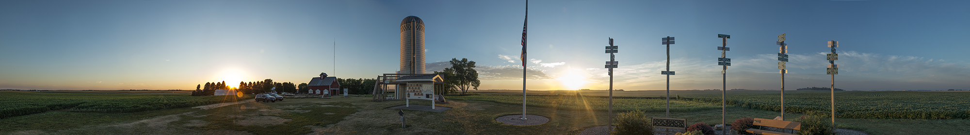 The sunset, and sunrise, at Hawkeye Point, captured over several days.