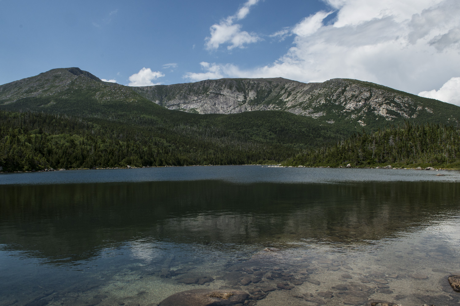 View of Katahdin from Lower Basin Pond