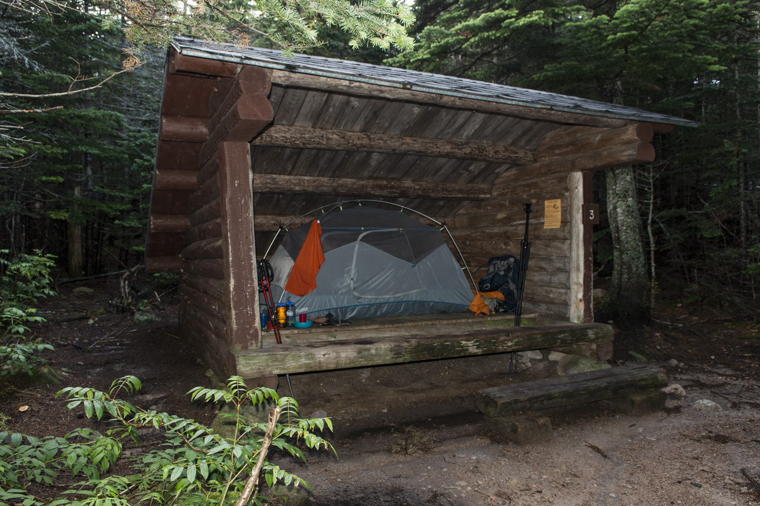 Lean-to #3 at Chimney Pond, home sweet home for two nights