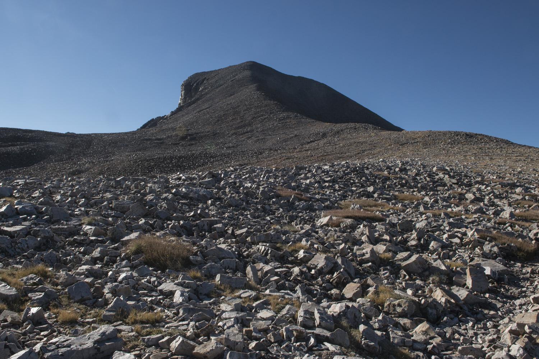 Nearing the summit of Wheeler Peak