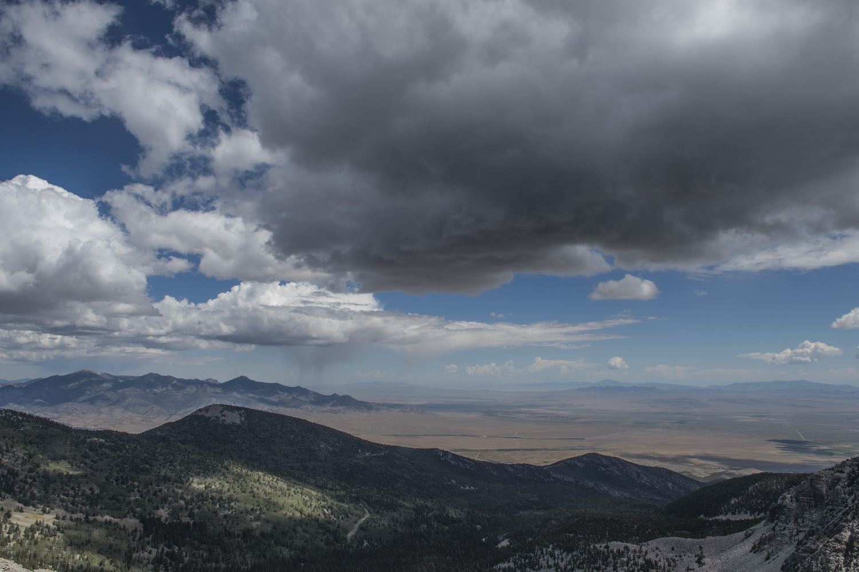 Dark clouds nearing the summit