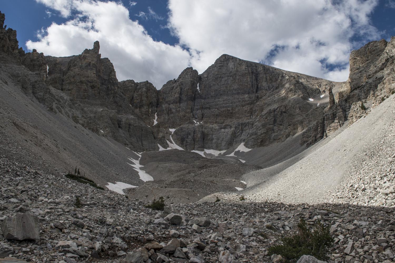The glacial cirque below Wheeler Peak.