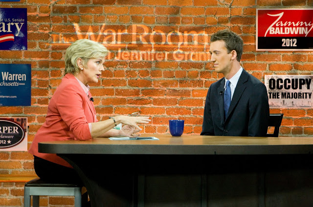 Trevor Thomas, pictured above on  The War Room with Jennifer Granholm , spoke with me recently about how he's making an impact on the LGBT community.