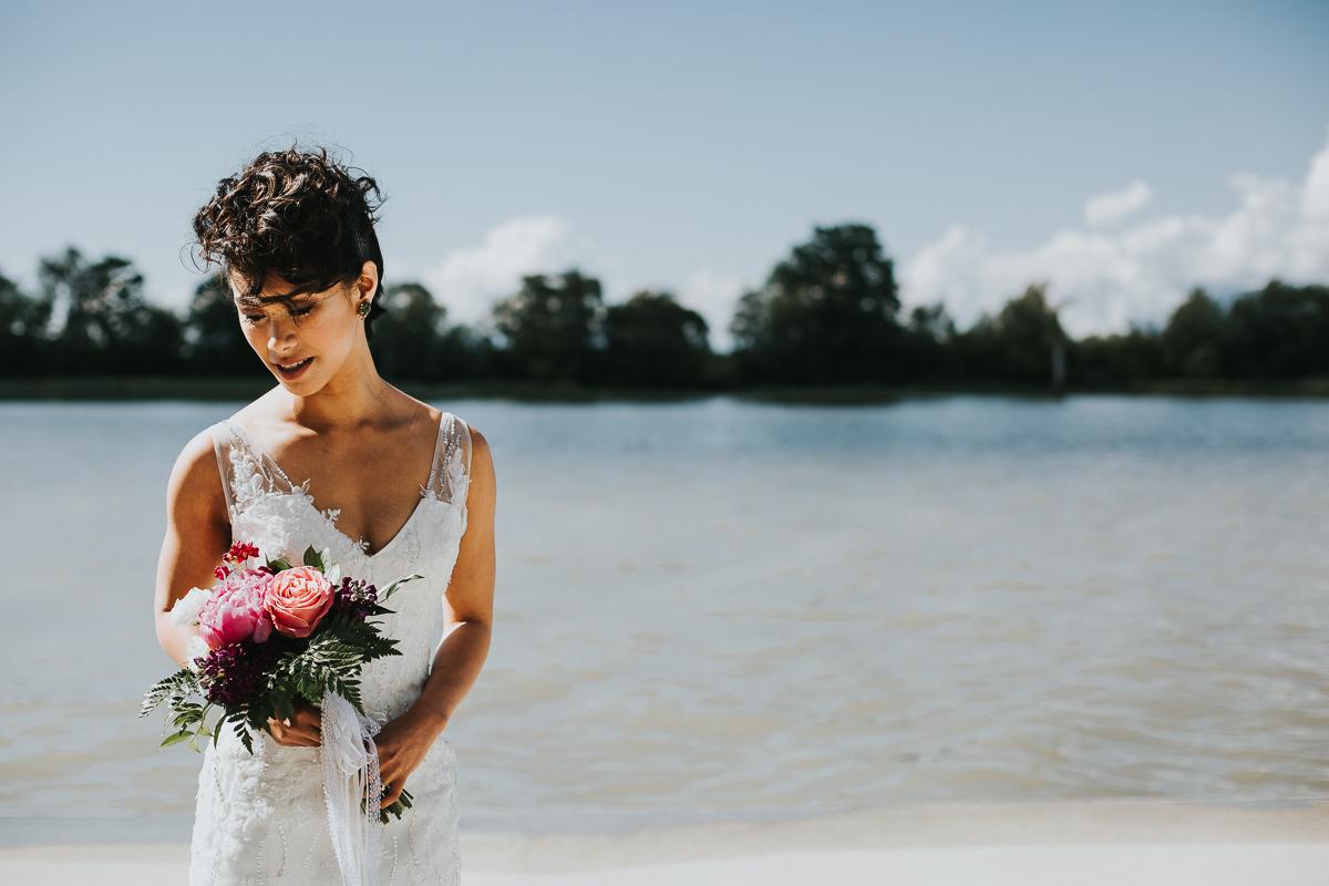 Calgary destination wedding photographer bride on beach Kauai Hawaii Sayulita Mexico beach wedding