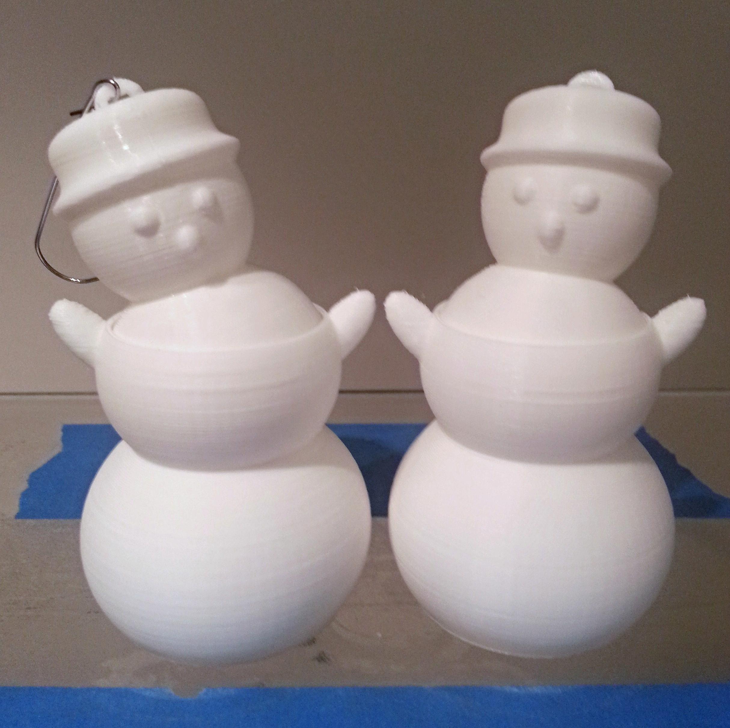 Dancing Snowman Ornaments