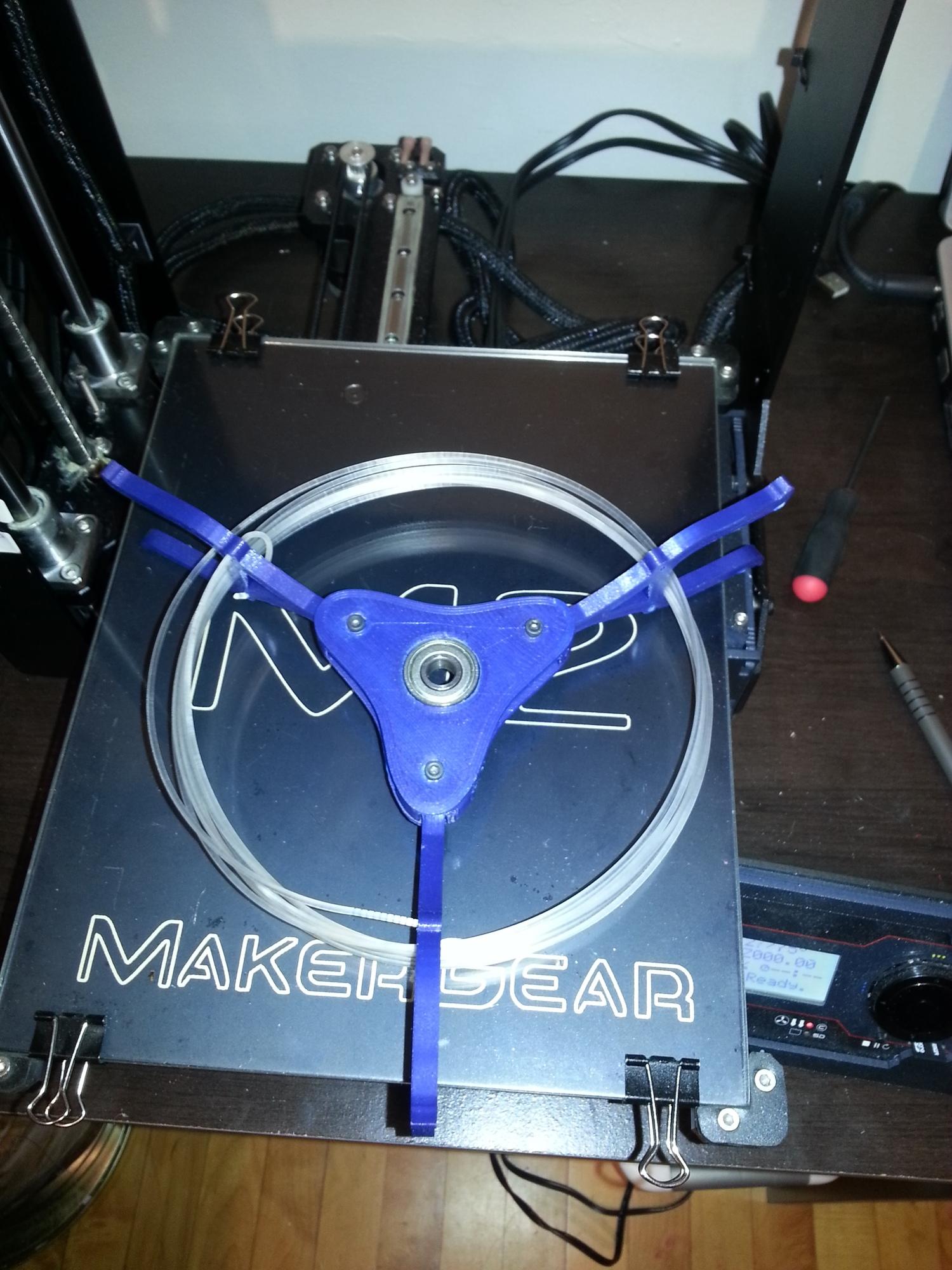 YA Filament Spool   Printrbot Simple - 0.25mm layers - Blue PLA