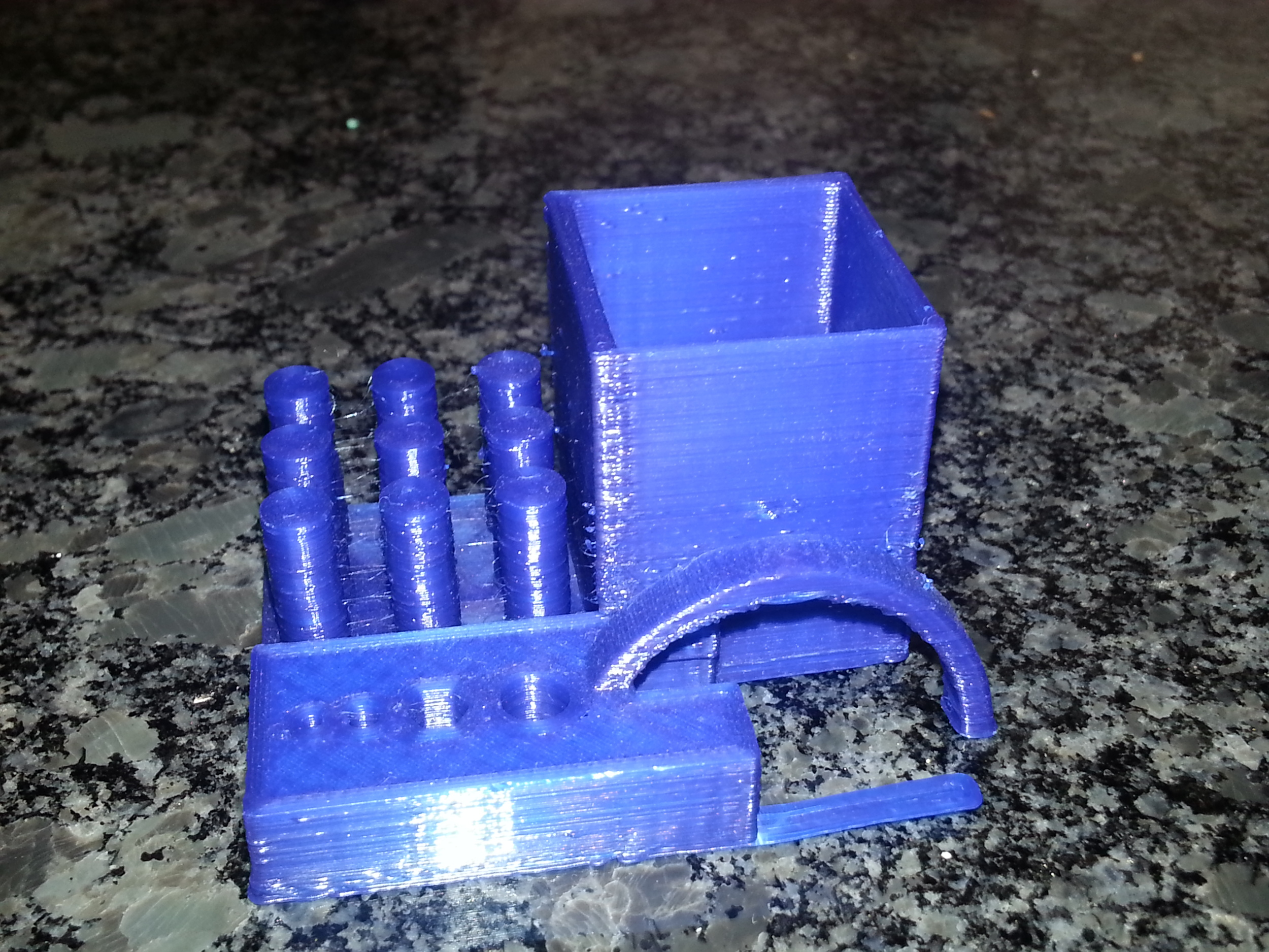 MAKE Torture Test   Printrbot Simple - 0.2mm layers - Blue PLA