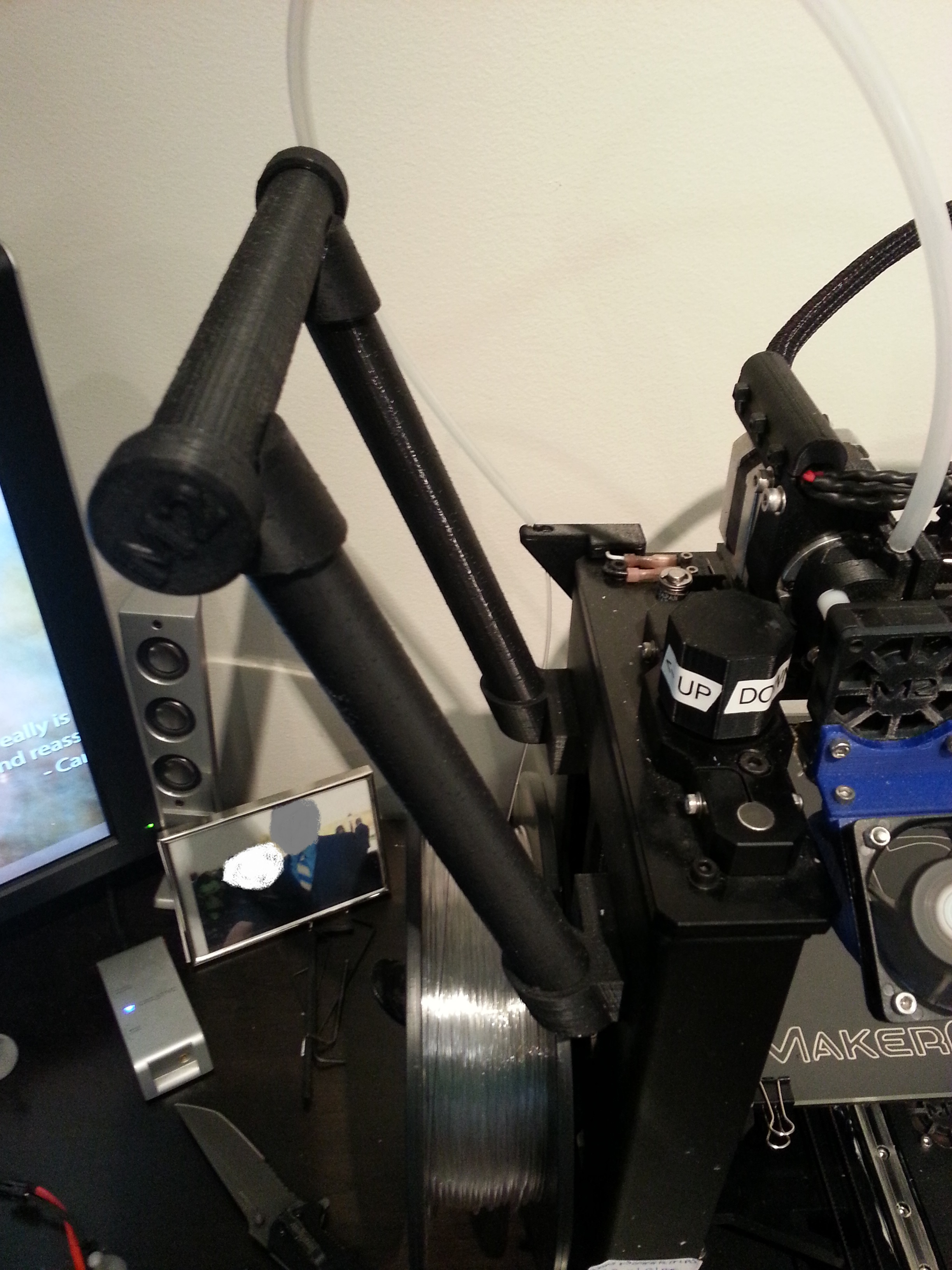 MakerGear M2 Printer Spool Holder   MakerGear M2 - 0.2mm layers - Black PLA
