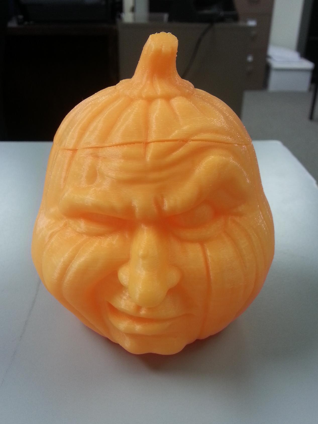 Grumpy Pumpkin Jar