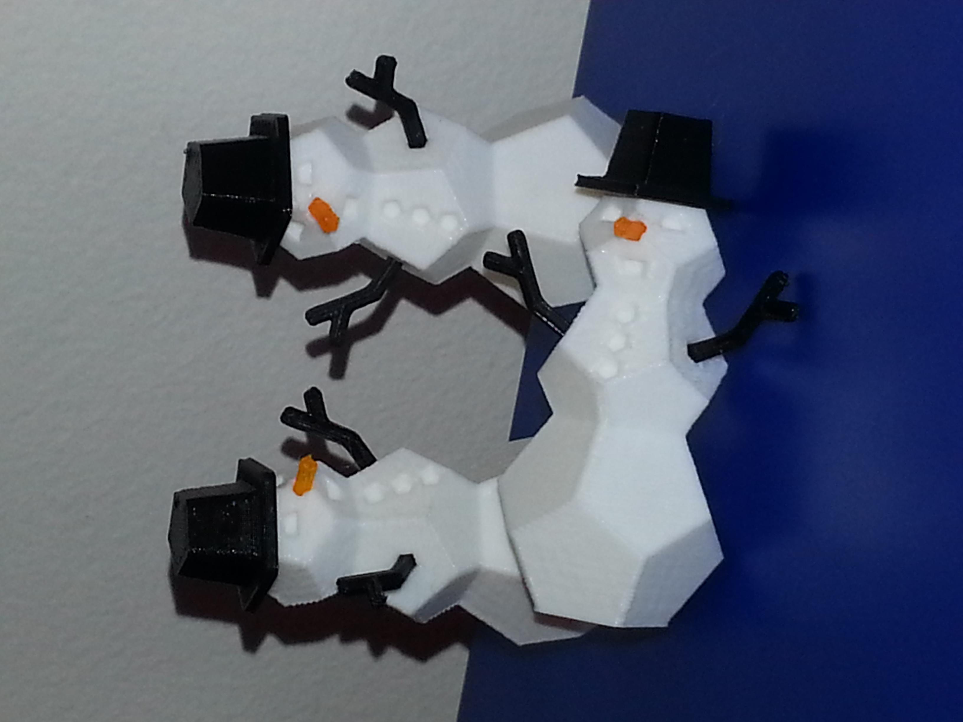 Small Snowmen Ornaments