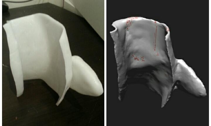 Hand formed sculpture vs 3d Scanned Model