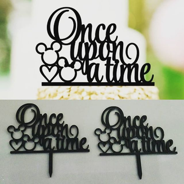 #3dprinted Cake Toppers for a customer. Picture -  3D model -  3D Print #onceuponatime #3p3d #chicago #inkscape #Inventor ##3dmodeling #2point5d #rapidprototyping #functionalprint #PLA #birthday #birthdaycake #birthdayparty #desktopmanufacturing #technologyisawesome #desktopmanufacturing