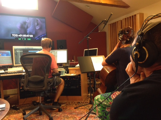 Director Ryan Todd listens in.