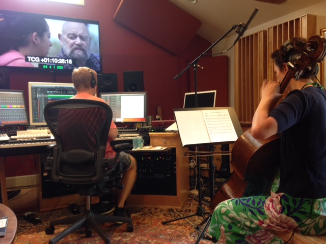 The amazing Simone Vitucci recording her gorgeous solo cello.