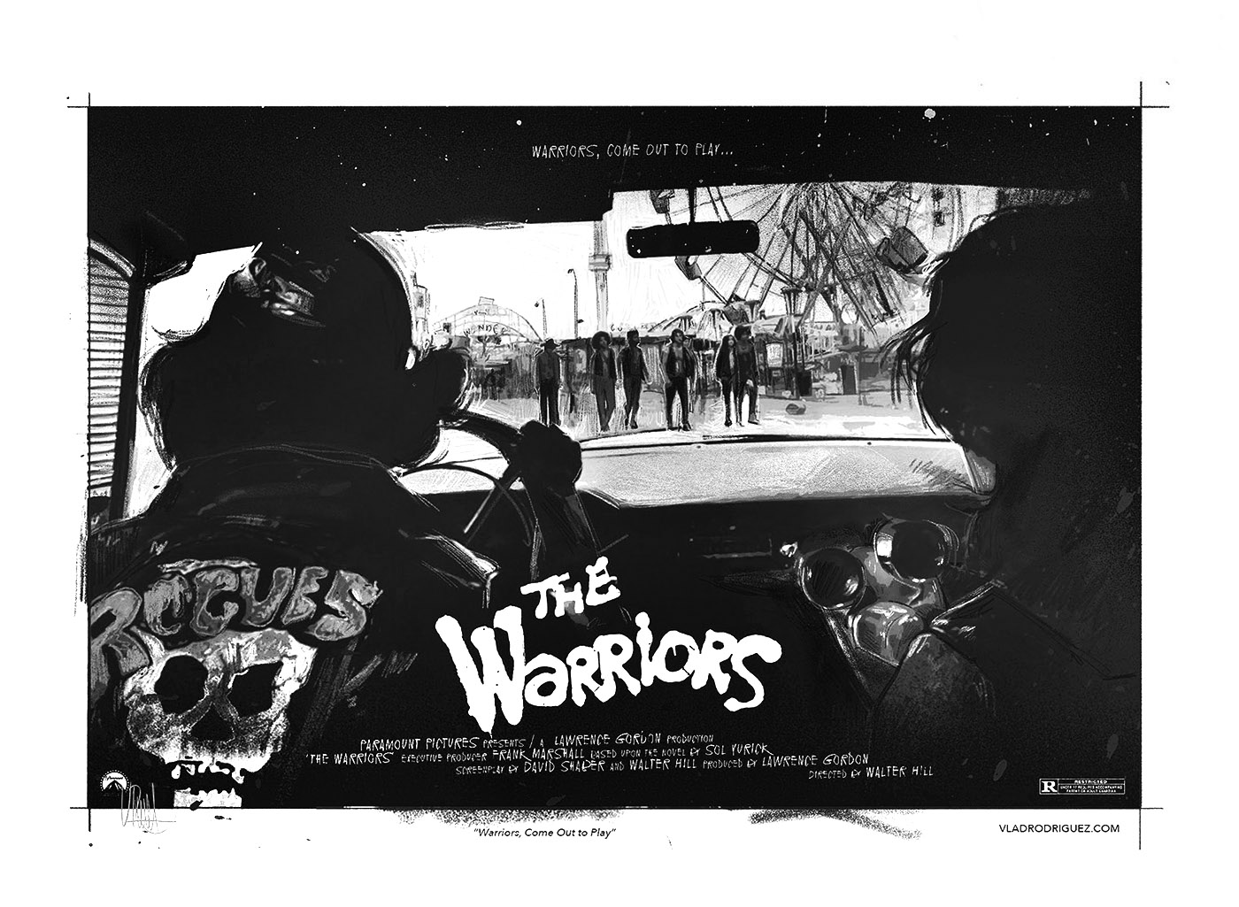 """Final Concept (Interior view from the car) """"We Figure We're Home"""" Inspired by 'The Warrios' Film (1,979)"""