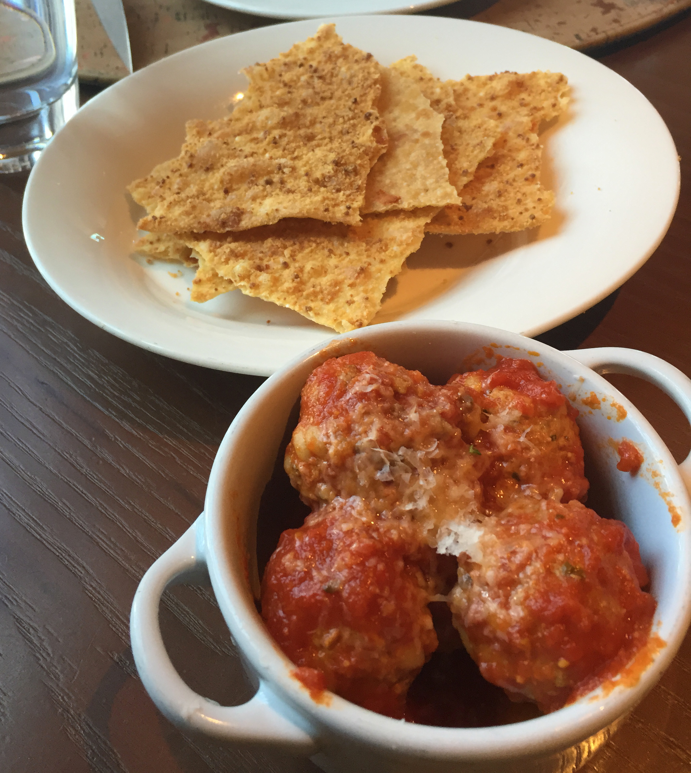 MEAT - Orzo Meatballs: meatballs with parmesan pomodoro