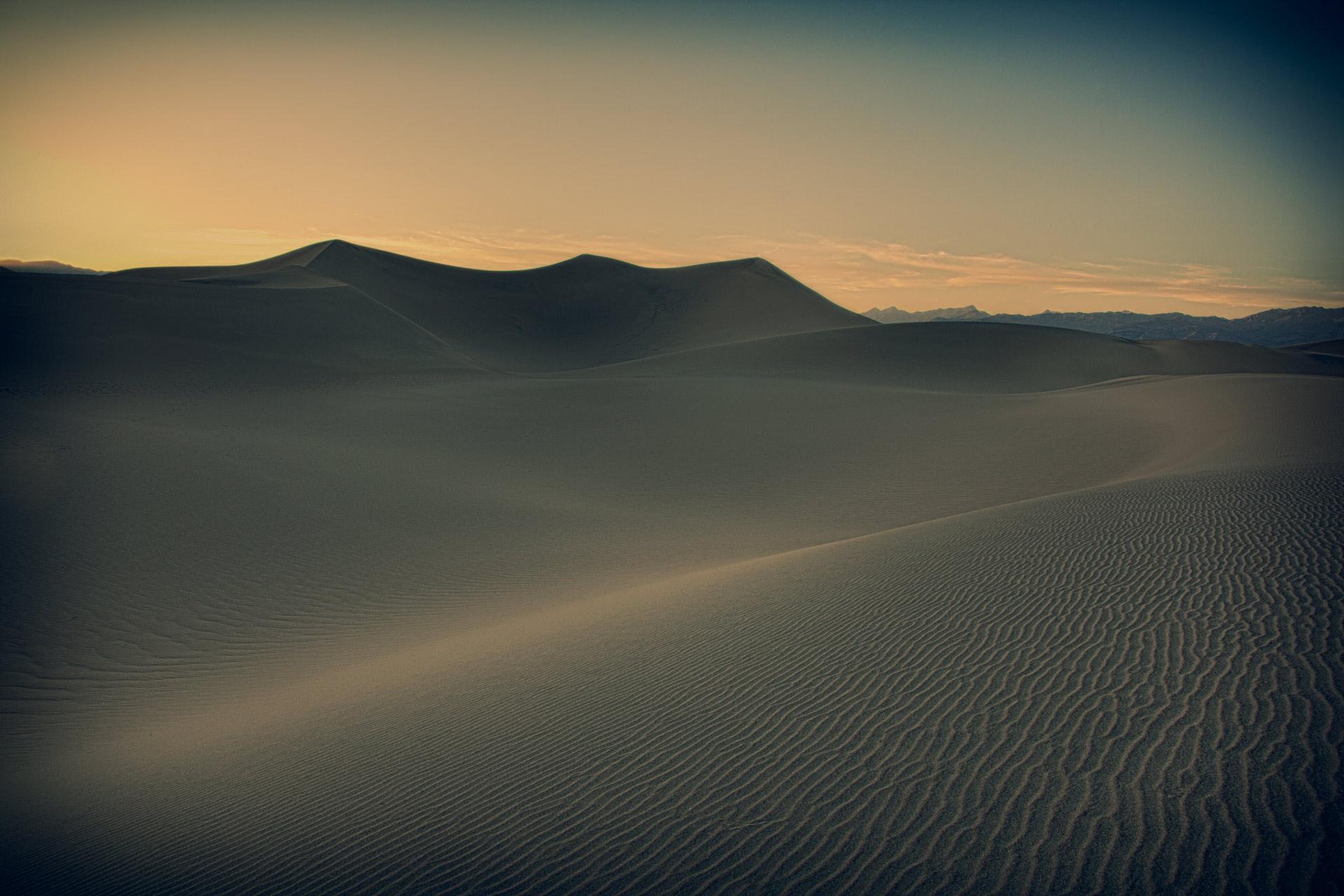 Mesquite Sand Dunes - late evening.