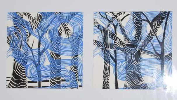 Lino cut, Karen Murrell