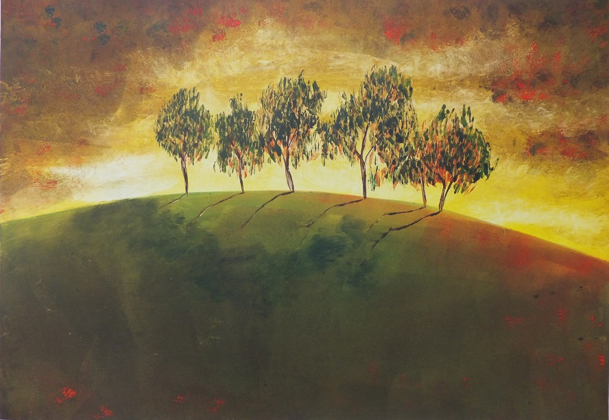 'Allenvale 1'Mono print. Robyn Mackay