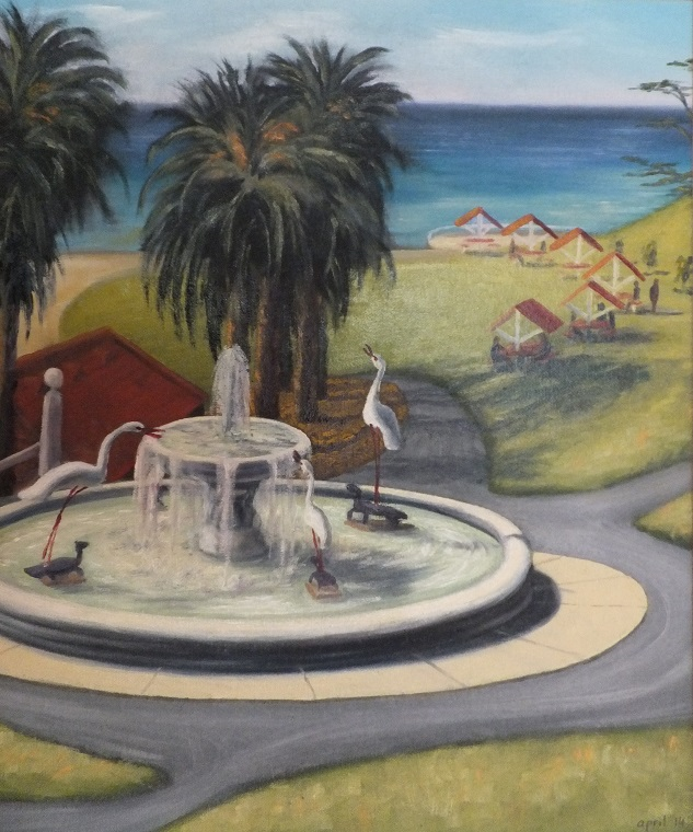 'Iconic Geelong 1' Oil on canvas, April Coulter