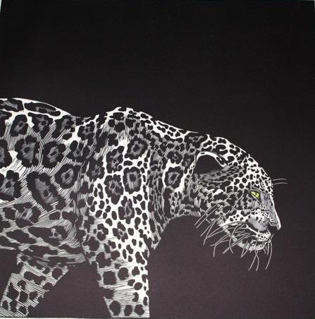 'Vanishing Beauty' John Sharp, Lino cut print
