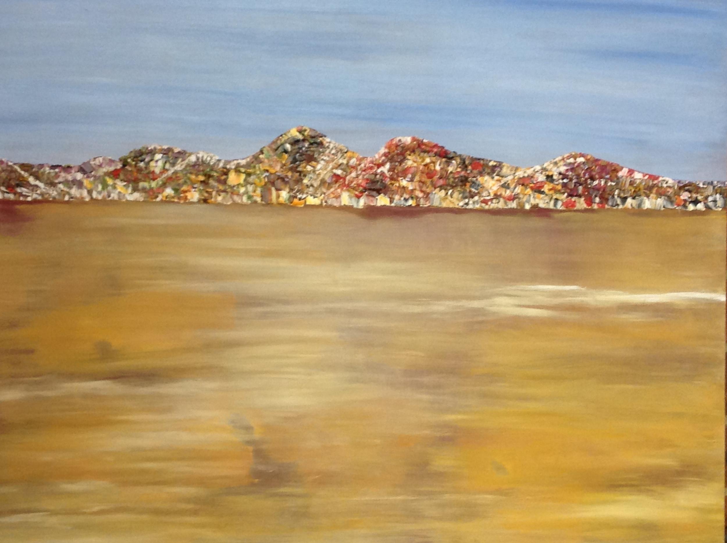 'You Yangs Abstract' Tina Coxall