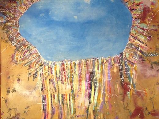 'Corio Bay Abstract' Tina Coxall