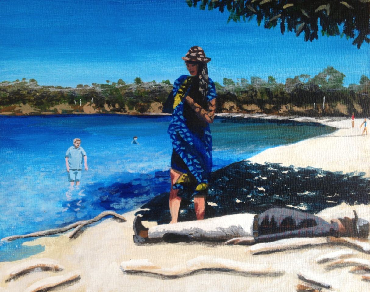 'The shade shifted on Fraser Island and suddenly sleeping dad was in full sun' Libbet Loughnan