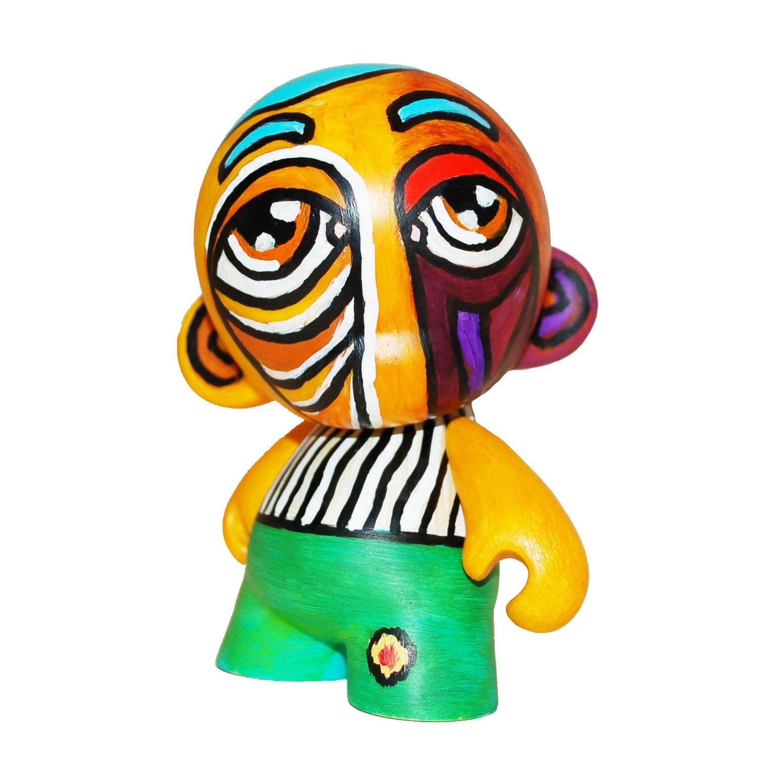 """Custom """"Peeking"""" KidRobot Munny Designer Toy, 2017."""