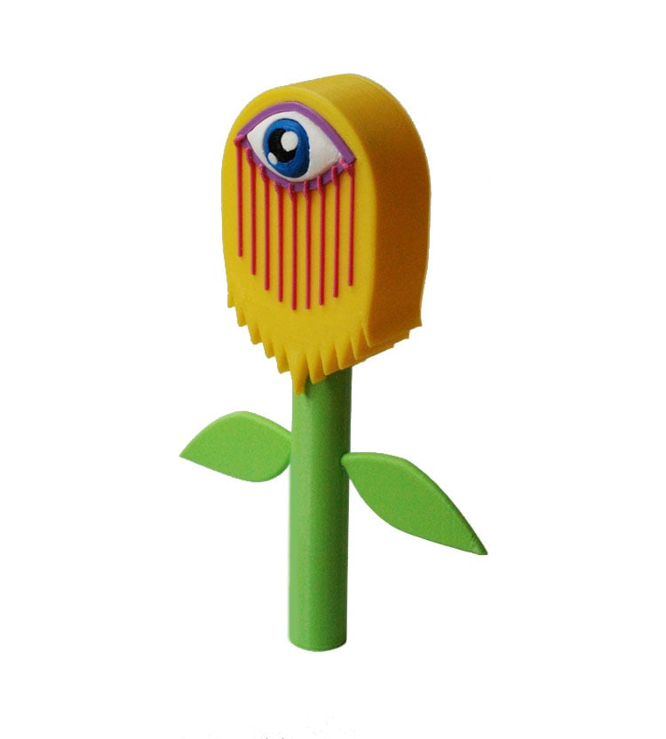 """Wilty"" 3D-Printed Designer Toy, 2016."