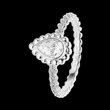 Serpent Boheme Ring Small White Gold