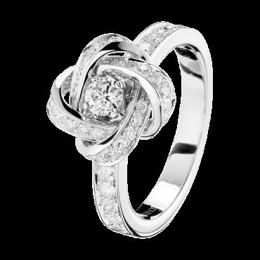Pivoine Ring in White Gold