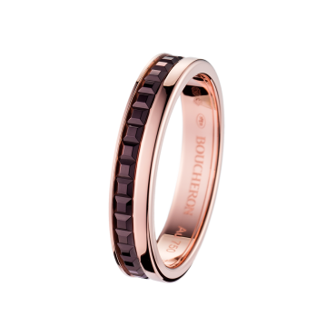 QUATRE CLASSIQUE WEDDING BAND - Band in pink gold and brown PVD