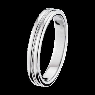 GODRON PLATINUM SMALL WEDDING BAND - Band in Platinum