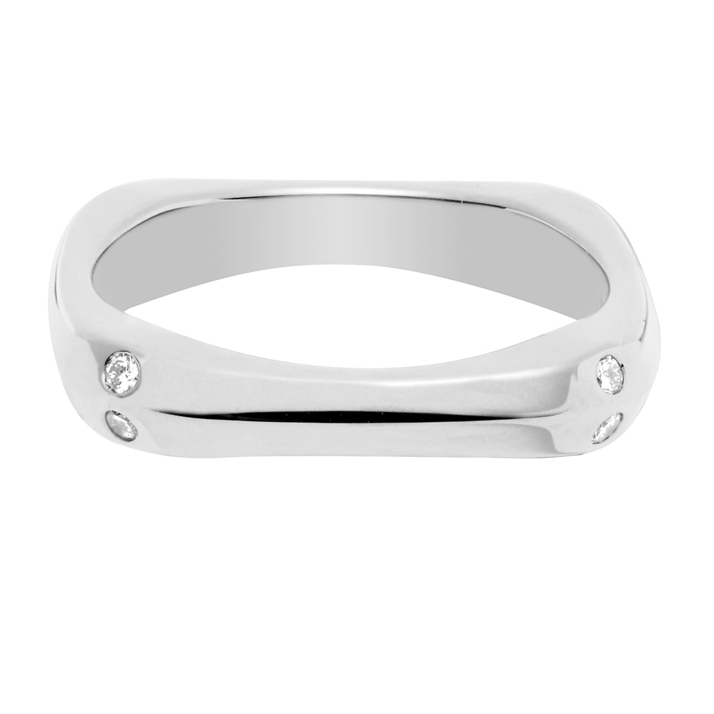 COUP DE FOUDRE WEDDING BAND -  Band in white gold and white diamonds