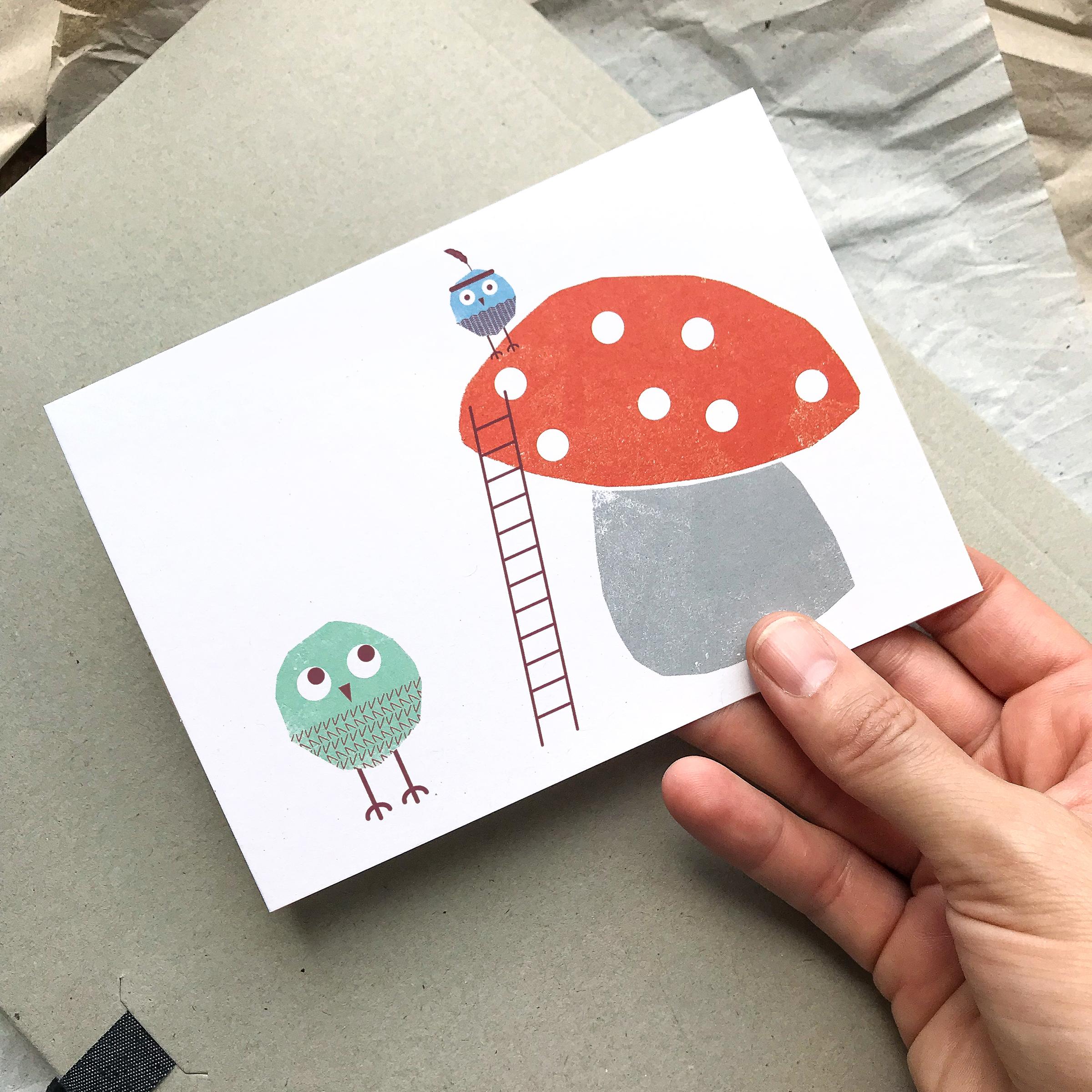 Postcard »Climbing Up«