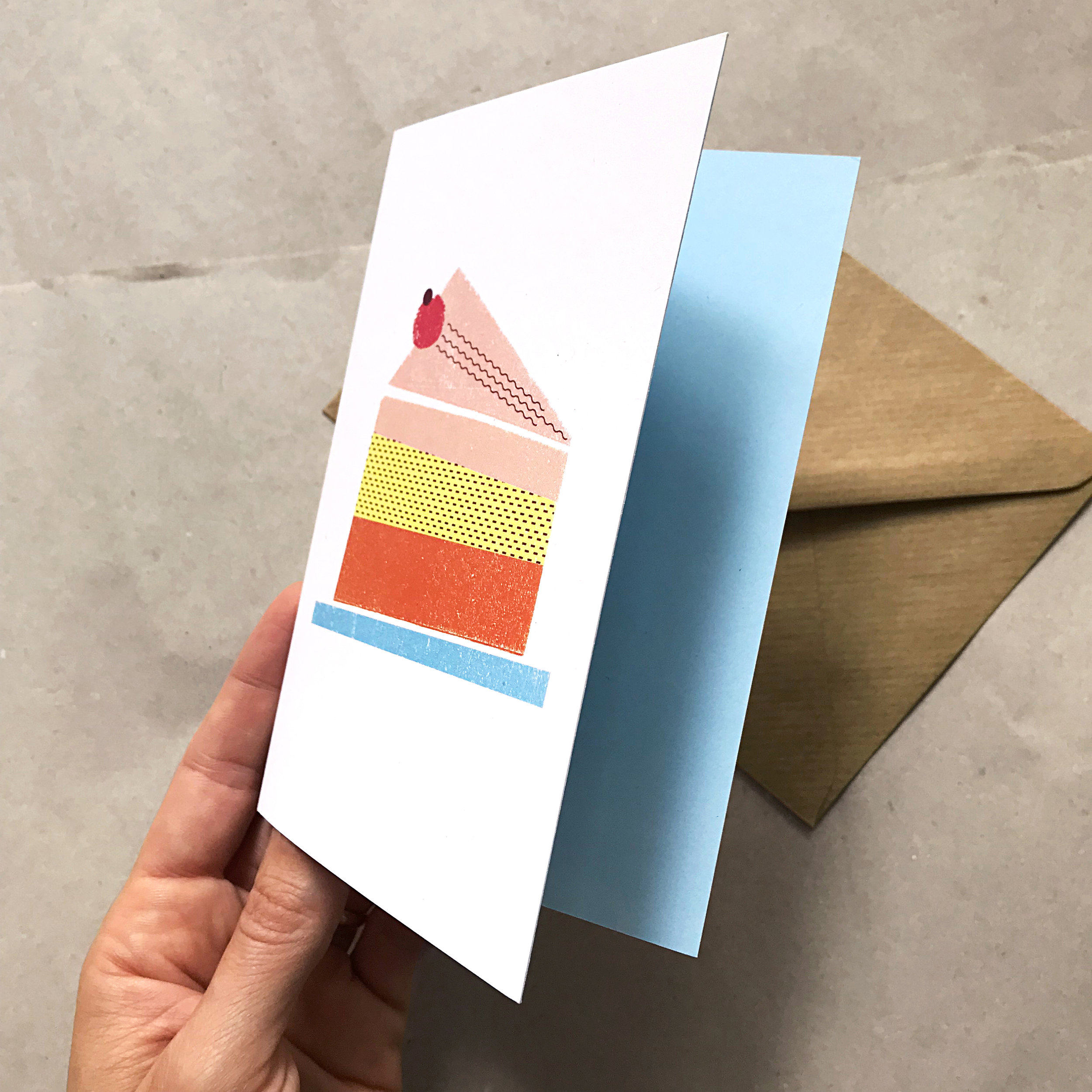 "Greeting Card ""A Piece of Cake"""