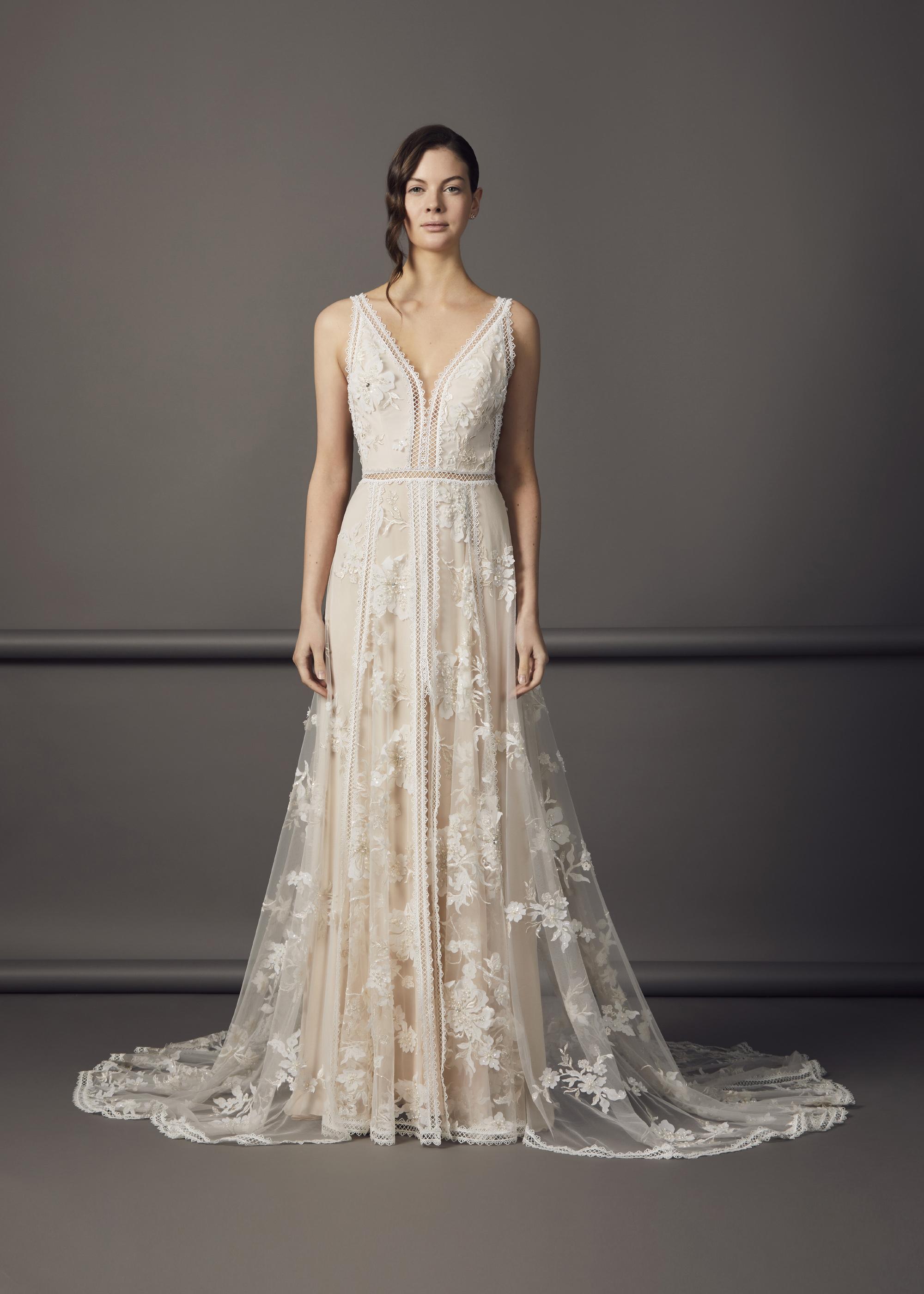 6000.12(NUDE OR IVORY) - KELSEA DRESS