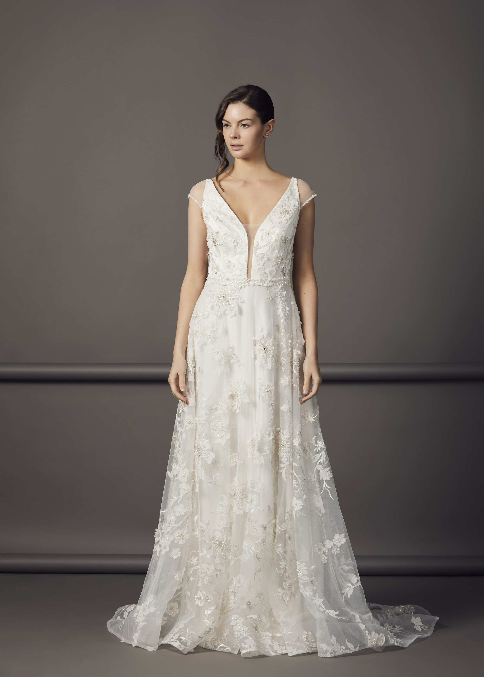 6000.78(IVORY-WHITE) - AMBER DRESS