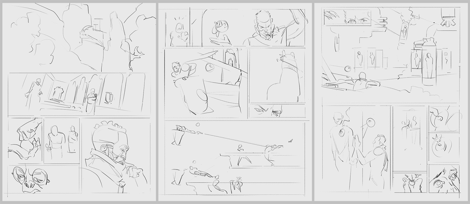 3 super rough, non-sequential pages taken from Shof's 6 page story